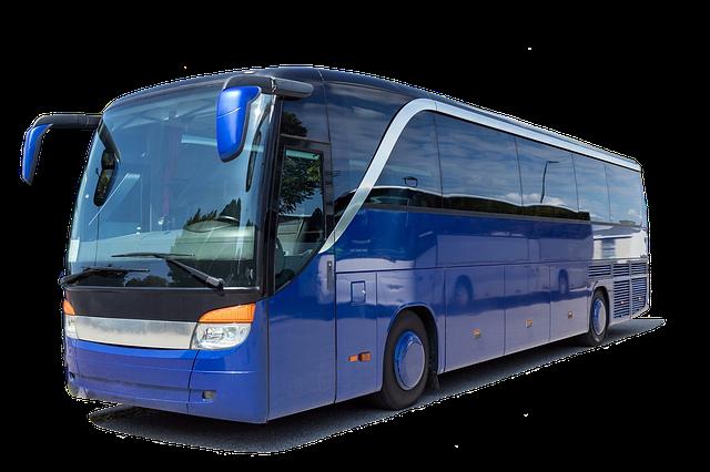 modrý autobus